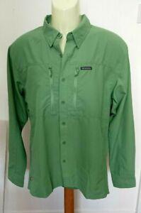 Simms Insect Shield Green Fishing Shirt Size M
