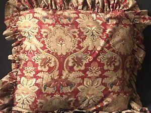 RARE! RALPH LAUREN Vintage *JARDINIERE EURO RUFFLE Pillow RED SHAM Paisley EUC!