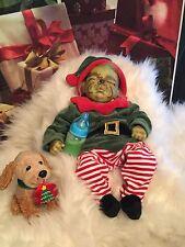 Reborn Baby Grinch Christmas Doll