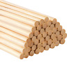 12 inch Long Bamboo Dowel Rods Craft Sticks for Craft Projects, 50 Pack 1/4 inch