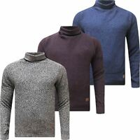 Mens Turtle Roll Neck Jumper By Springfield Cotton Pull Over High Top Sweater