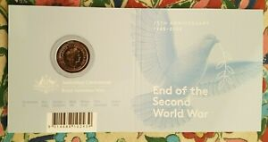 2020 $2 75th Anniversary End of WWII  'C' Mintmark Coloured Coin IN RAM Card
