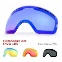 Real Skiing Snowboard Goggles Snow Double Lens Anti-fog UV Ski Glasses Goggle