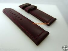 Panerai Burgundy Strap 26mm by 26mm for Luminor 47mm Long Size New !