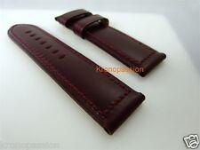 Panerai Burgundy Strap 26mm/26mm for Luminor 47mm Long Size New !