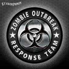 "ZOMBIE OUTBREAK RESPONSE TEAM Sticker ""Metal"" Biohazard Vinyl Decal #FS918"