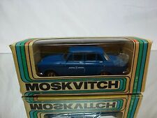 MADE IN CCCP USSR - MOSKVITCH 408 - TAXI BLUE 1:43 - GOOD CONDITION IN BOX