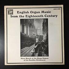 Hans Musch~English Eighteenth Century Organ Music~1981 MHS Classical~VG++ FAST!!