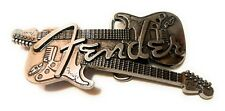 * FENDER ELECTRIC GUITAR Siver Color Logo Belt Buckle collectible desktopShow
