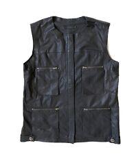 Veste en cuir noir COS Taille 36