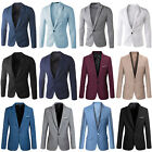 Mens Formal Slim Fit One Button Suit Blazer Business Coat Jacket Casual Tops
