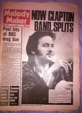 MELODY MAKER 29.5.1971 ERIC CLAPTON The Band PAUL McCARTNEY Rory Gallagher T.Rex