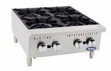 "Atosa ATHP-24-4, Commercial 24"" 4 Burner Hot Plate / Countertop Range, Gas"