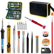 Adjustable Temperature Soldering Iron Kit Desoldering Pump Solder Wire 110V 220V