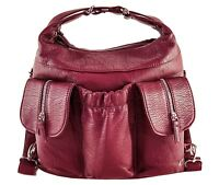Purse King Butterfly Convertible Purse (Backpack and Shoulder Bag) Vegan Leather