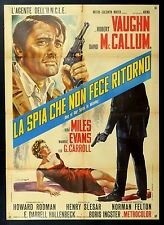 ONE OF OUR SPIES IS MISSING 1p Man from UNCLE R.VAUGHN ITALIAN POSTER SPY