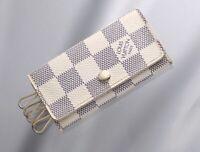 H7116M Authentic Louis Vuitton Damier Azur 4-Ring Key Case