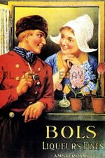 Bols liquor Poster 1905 Dutch The Netherlands advertise ca 8 x 10 print prent