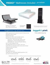 LEGGETT AND PLATT SPLIT KING ADJUSTABLE SLEEP AIR BED  MATTRESS 50 NUMBER DIAL