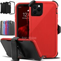 For iPhone 11 11 Pro Max Shockproof Protective Rugged Cover Case With Belt Clip