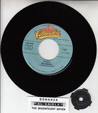 """AL CAIOLA Bonanza & The Magnificent Seven 7"""" 45 record NEW + jukebox title strip"""
