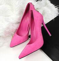 women's pointed toe suede high heel stilettos pump letter tassel shoes size Y332
