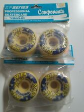 VINTAGE VARIFLEX XP WHITE SKATEBOARD WHEELS - 90A - OLD SCHOOL - NOS in BLISTER