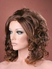 Forever Young Ladies Medium Style Tousled Full Curls Light Auburn Brown Fashion