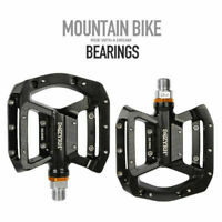 "Aluminum 9/16"" Pedals Cycling Mountain MTB Bike Bicycle 3 Bearing Platform Pedal"
