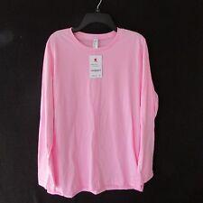 American Apparel Pink Long Sleeve Blank Tee Shirt T-shirt L/S NWT New