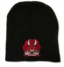 """ROB ZOMBIE """"RED DEVIL"""" BLACK KNIT BEANIE HAT NEW WHITE OFFICIAL ADULT OSFM"""