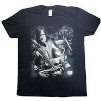 AMC The Walking Dead Daryl Dixon Black Mens T Shirt Tee Xtra Large XL VGC