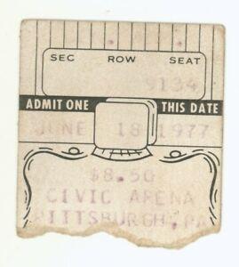 Emerson Lake & Palmer Ted Nugent J Geils 6/28/77 Pittsburgh Ticket Stub! ELP