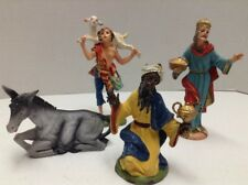 Depose Italy Fontanini Nativity Figures Lot of 4 Spider Mark