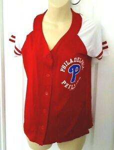 PHILADELPHIA PHILLIES Womens Jersey Size Small or Medium Lightweight Red Mesh