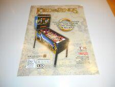 Neuer Flyer für Lord of the Rings Stern Flipper Pinball
