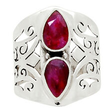 Ruby 925 Sterling Silver Ring Jewelry s.6.5 31376R