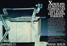 Publicité advertising 1984 (2 pages) Le Copieur Rank Xerox