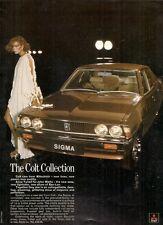 Mitsubishi Colt & Ban-Lon 1977 UK Market Advertising Supplement Foldout Brochure