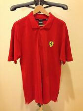 Authentic Scuderia Ferrari Scudetto Polo Shirt Red Size M Staff No For Sale