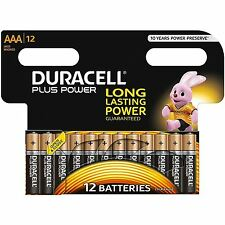12 DURACELL AAA PLUS POWER DURALOCK BATTERIE ALCALINE CELLE LR03 nonrechargeable