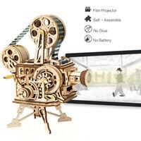 ROKR Lasergeschnittenes 3D-Holzpuzzle Filmprojektor Modell Spielzeug Geschenk