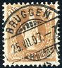 SCHWEIZ 1907, MiNr. 80 D, schön gestempelt, Mi. 350,-