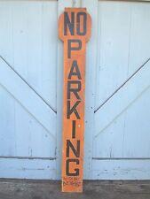 vintage COLORFUL automobile CAR SHOW  orange + black  NO PARKING good old SIGN
