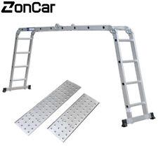 155ft Multi Purpose Aluminum Telescopic Ladder Heavy Folding Telescopic Ladder