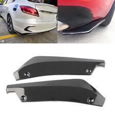 2 x Rear Bumper Lip Diffuser Splitter Canard Protector Carbon Fiber Universal