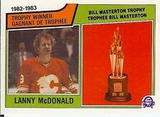 83-84 1983-84 OPC Lanny McDonald Trophy Winner-Flames-Clean Corners-GRADE THIS