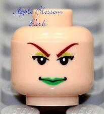 NEW Lego Light Flesh Female Green Lips MINIFIGURE HEAD Batman Minifig Poison Ivy