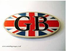 NEW Enamel Chrome Union Jack GB Car Badge Land Rover Jaguar MG