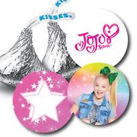 108 JoJo Siwa Birthday Party Hershey Kiss Favor Stickers